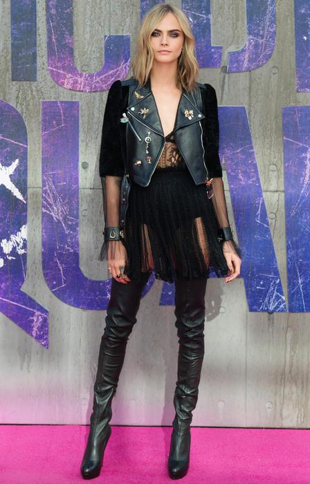 """Cara Delevigne en la premiere de """"Suicide Squad"""" en Londres"""
