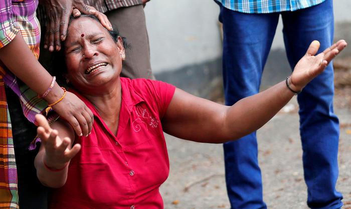 Familias de víctimas de Sri Lanka