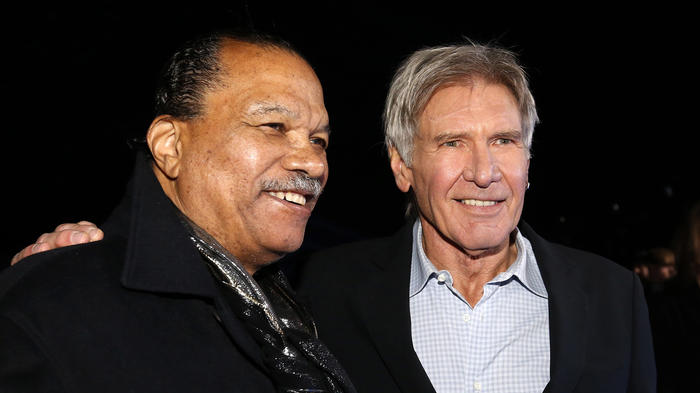 "Actors Williams and Ford arrive at the premiere of ""Star Wars: The Force Awakens"" in Hollywood"