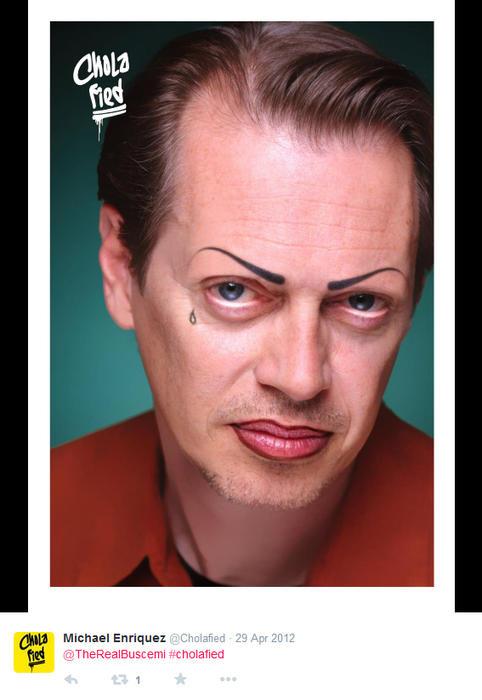 Steve Buscemi maquillado como chola