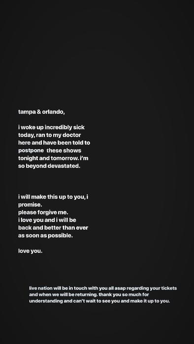 Storie de Instagram de Ariana Grande realizada a finales de mayo de 2019