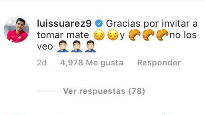 Comentario de Suárez a Messi