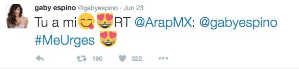 Gaby Espino le responde a Arap Bethke por Twitter
