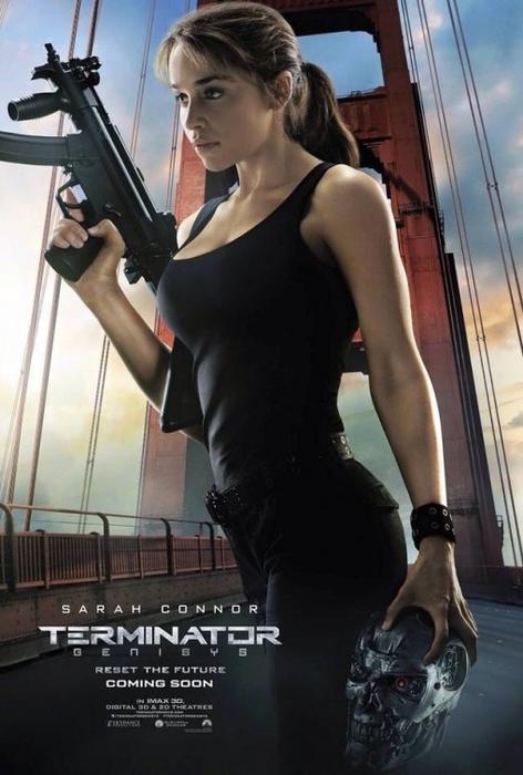 """Nuevos pósters de los personajes de la película """"Terminator Genisys""""."""