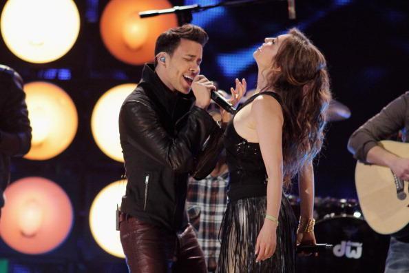 Thalia y Prince Royce cantando te perdiste mi amor