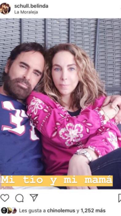 El tío y la mamá de Belinda