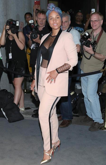 Alicia Keys en el desfile de Tom Ford en NYFW
