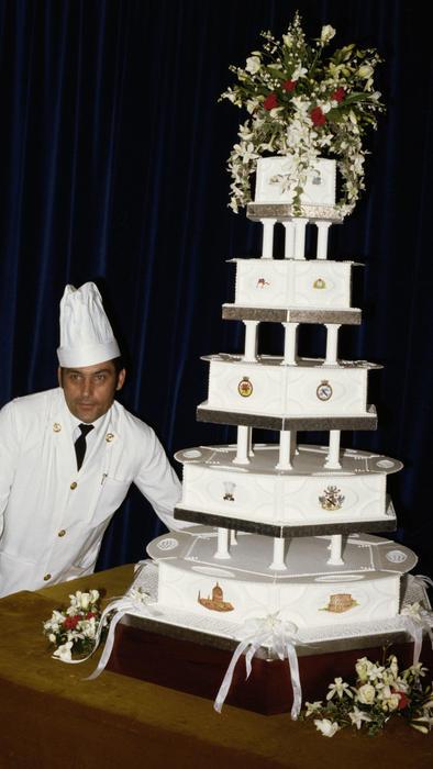 Torta de bodas de la princesa Diana y el príncipe Carlos