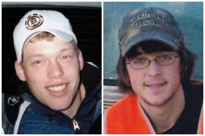 Foto de Andy Sandness (izq) antes de recibir el trasplante del rostro de Calen Ross (der). Cortesía de Andy Sandness y Lilly Ross via AP