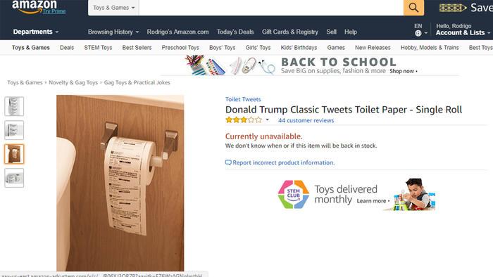 Papel higiénico Twitter Donald Trump