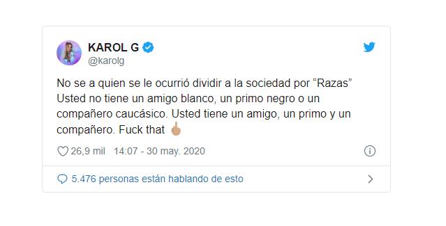 Tuit de Karol G