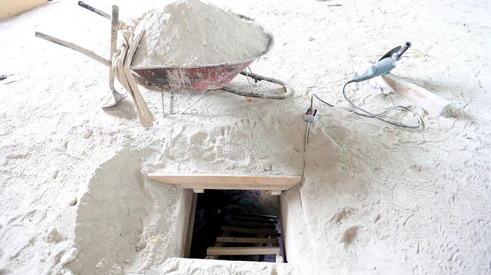 Túnel por donde escapó Joaquín El Chapo Guzmán