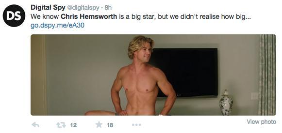 """El bulto de Chris Hemsworth en el nuevo tráiler de """"Vacation"""" alborota las redes sociales."""
