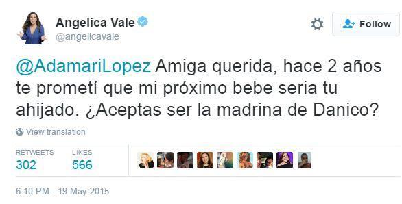 Angelica Vale en su cuenta de Twitter