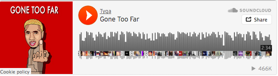 Arte de la canción Gone Too Far de Tyga