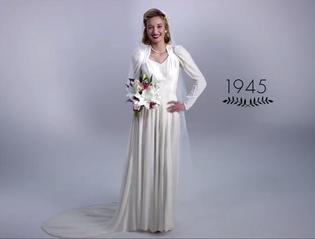 Vestido de novia de 1945