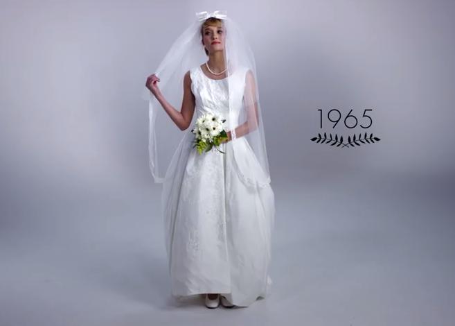 mira la evolución del vestido de novia en 100 años (video) - la