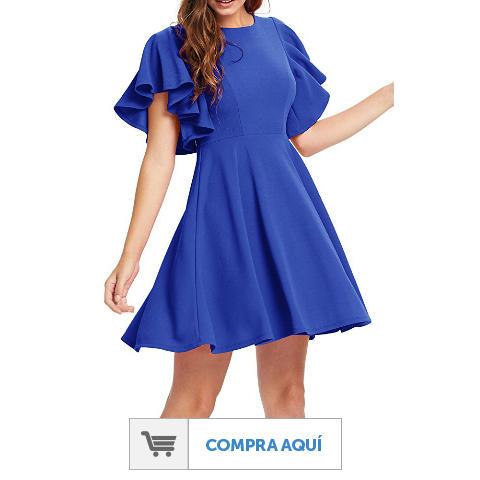 Vestidos azul eléctrico