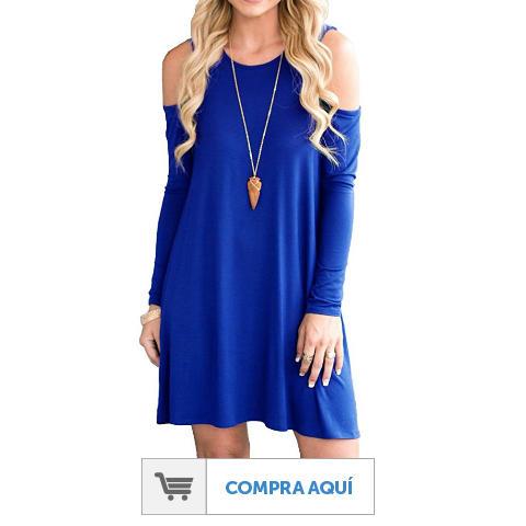 Imagenes de vestidos de color azul electrico