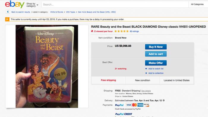 Viejos VHS podrían valer una fortuna