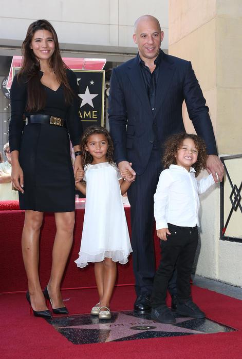 Vin Diesel y su familia.