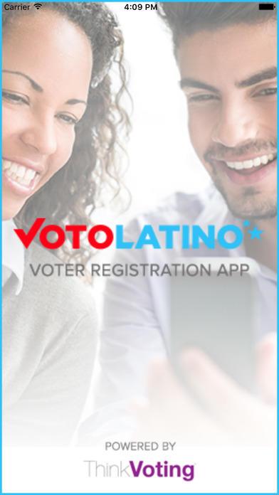 Captura de la app VoterPal, de Voto Latino