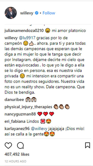 Respuesta de William Levy