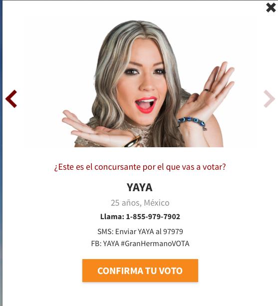 Yaya es nominada en la tercera semana en Gran Hermano