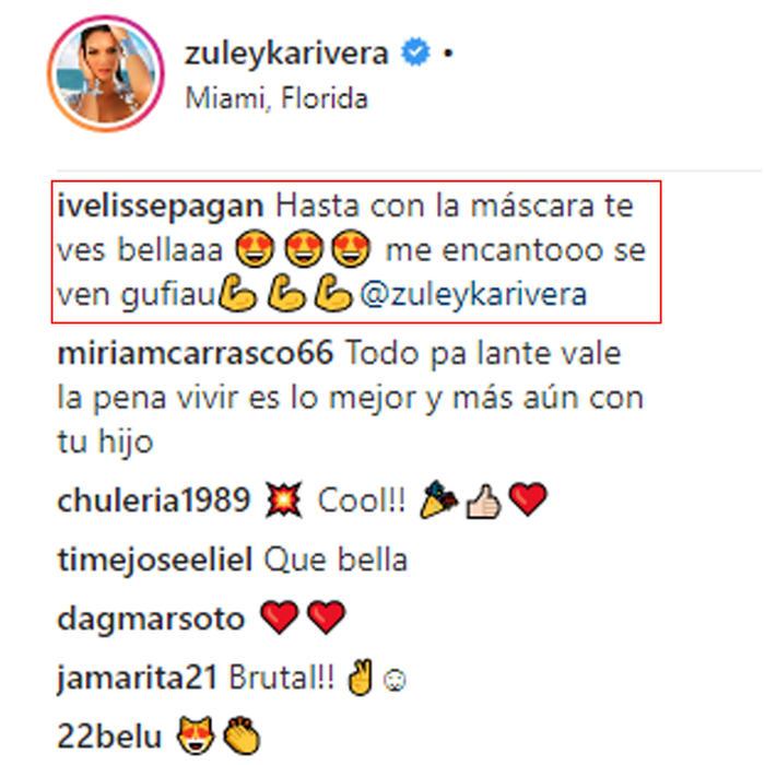 Zuleyka Rivera y su máscara