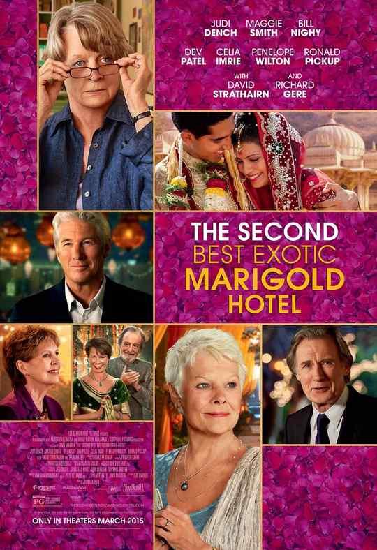 "Póster de ""The Second Best Exotic Marigold Hotel"""