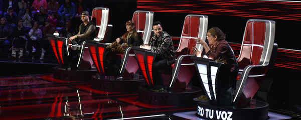 Alejandra Guzmán, Carlos Vives, Luis Fonsi y Wisin en las audiciones a ciegas de La Voz US 2