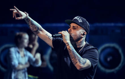 Nicky Jam ensayos Latin American Music Awards 2016