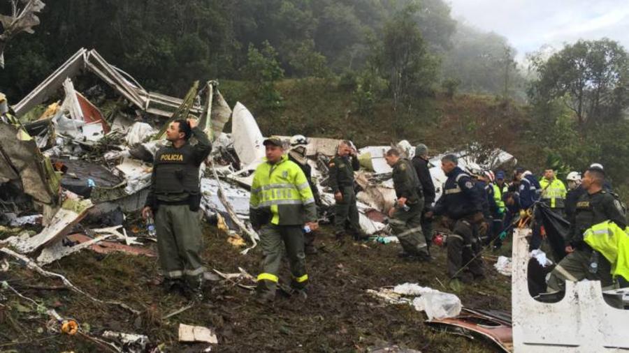 Accidente Avion equipo futbol chapecoense