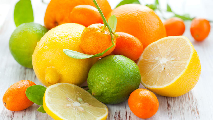 variedad de citricos