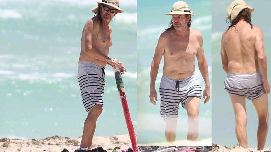 Fher en la playa de Miami Beach