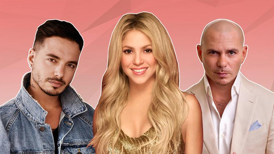 J Balvin, Shakira & Pitbull