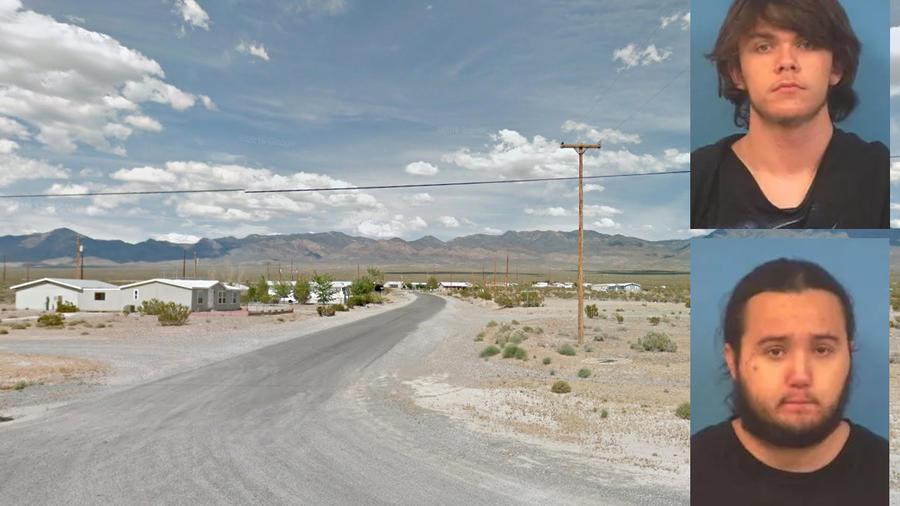 Imagen del lugar donde vivía la familia. A la derecha, Michael Wilson y Dakota Saldivar.