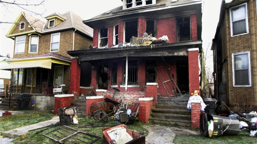 Una casa incendiada en Detroit por el malfuncionamiento de un cable de extensión