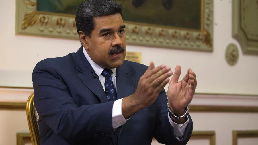Presidente de Venezuela, Nicolás Maduro, ayer en conferencia de prensa