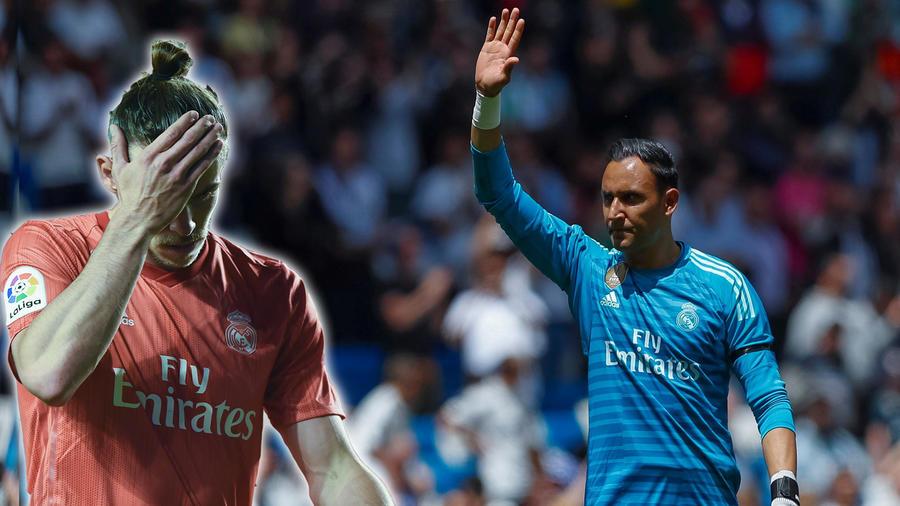 Keylor Navas y Gareth Bale en Real Madrid
