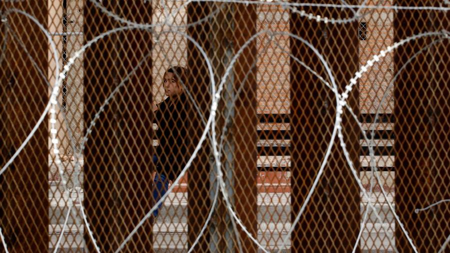 Valla con púas en la frontera con EEUU en una imagen de archivo