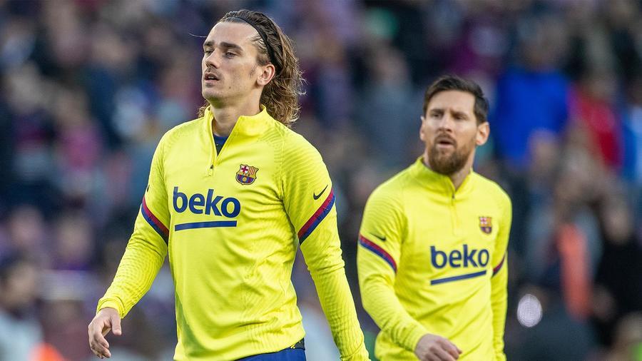 Messi y Griezmann en Barcelona