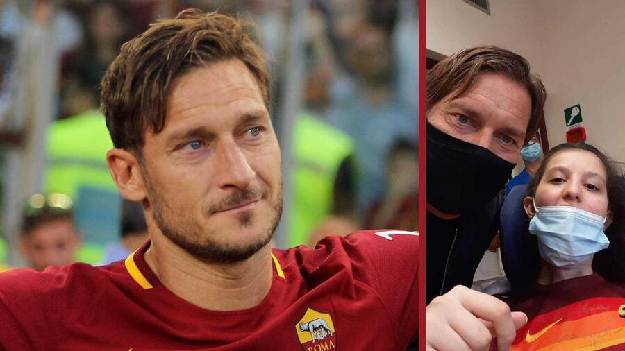 Francesco Totti visita a una fan