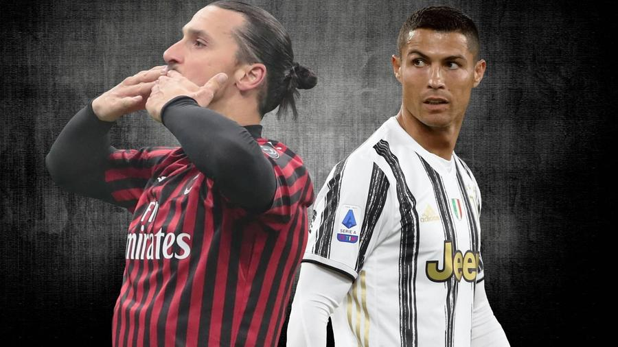 Zlatan Ibrahimovic en el A.C. Milan y Cristiano Ronaldo en la Juventus