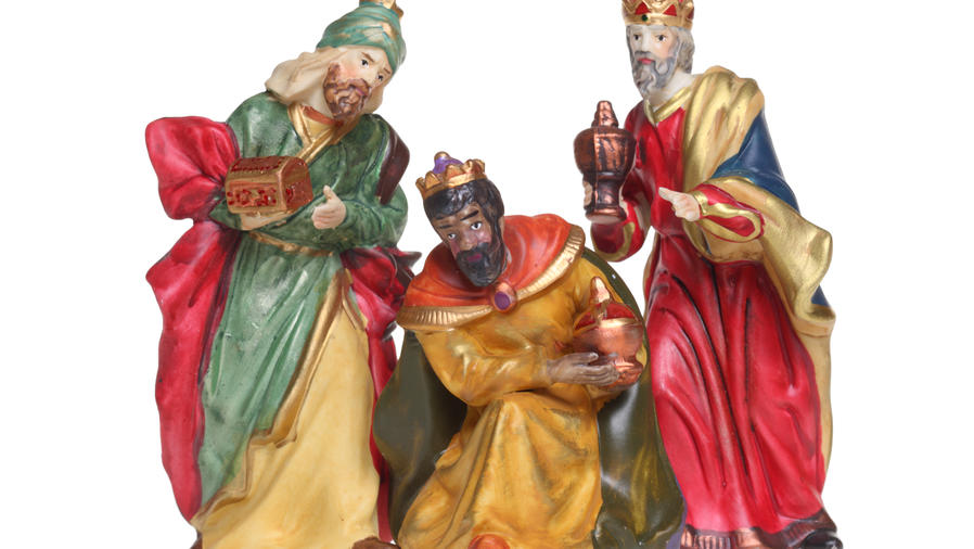 Figuras de los tres reyes magos
