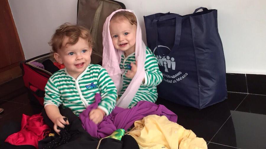 Hijos de Maritza Rodriguez en desorden de maletas