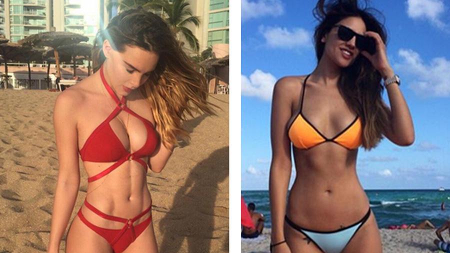 Belinda y Eiza González en Instagram