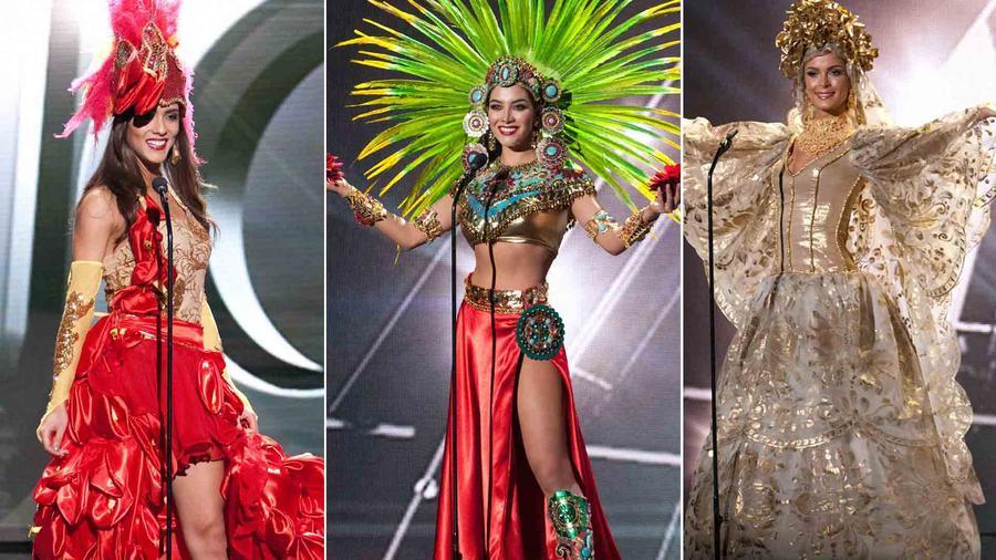 Candidatas a Miss Universo 2015 en traje típico