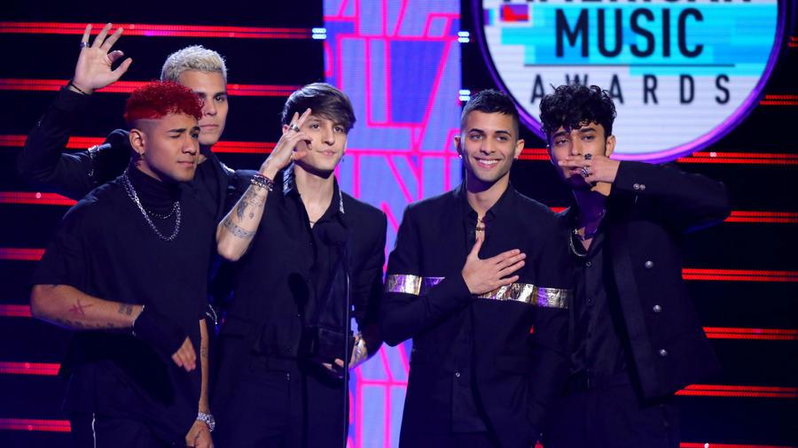 CNCO en los Latin American Music Awards 2019