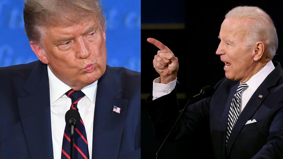 Donald Trump y Joe Biden durante el primer debate presidencial